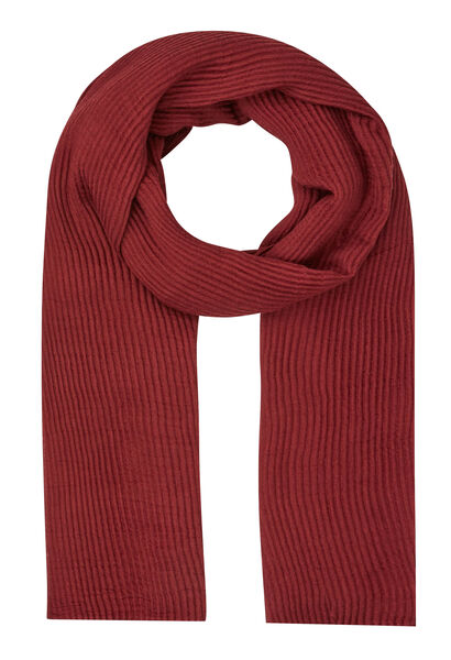 Sjaal van plooitjesstof - Marineblauw