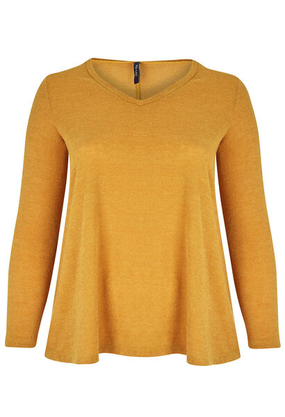 Tuniek van warm tricot - Oker