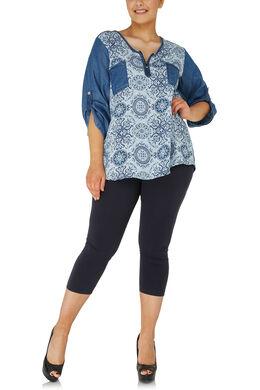 3/4-legging, Marineblauw