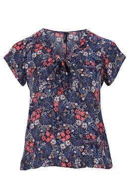 Shirt met strik  Marineblauw