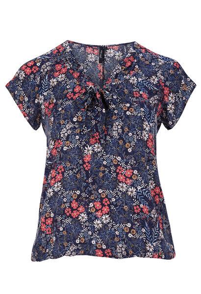 Shirt met strik  - Marineblauw