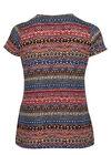 T-shirt in bedrukt koel tricot, Indigo