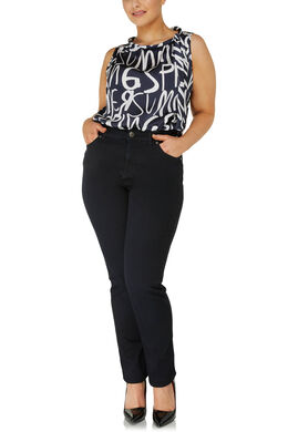 Slim fit jeans met 5 zakken, Denim