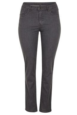 Vormgevende slim jeans met 5 zakken Grijs