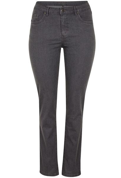 Vormgevende slim jeans met 5 zakken - Grijs