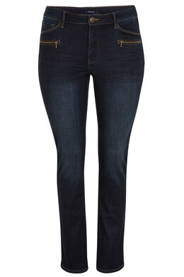 Jeans met 5 zakken, slim model, Denim
