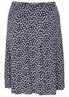 Rok van tricot met bloemenprint, Marineblauw