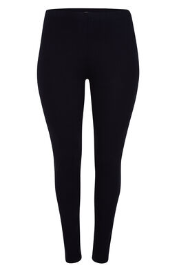 Lange, basic legging, Marineblauw