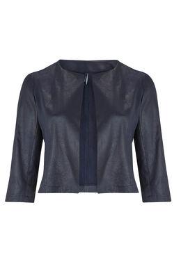 Kort jasje van imitatiesuède, Marineblauw