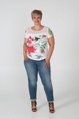 T-shirt imprimé macramé, Blanc