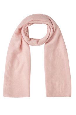 Sjaal in effen viscose met lovertjes, Roze