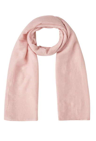 Sjaal in effen viscose met lovertjes - Roze