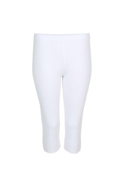 Legging classique en coton bio - Blanc