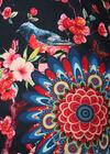 Jurk bedrukt met vogels en mandala, Marineblauw