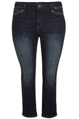 7/8 jeans met 5 zakken Denim