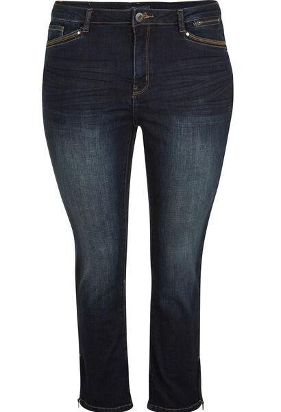 7/8 jeans met 5 zakken - Denim