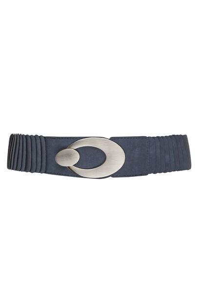 Large ceinture grande boucle - Marine