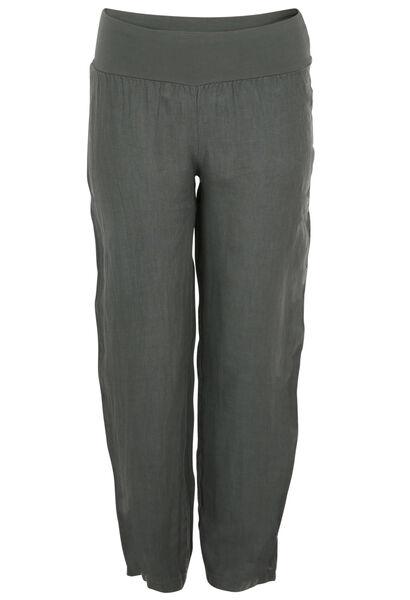 Pantalon long en lin - Kaki