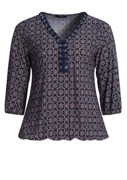 T-shirt in koel tricot, Indigo
