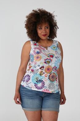 Top met bloemenprint, Multicolor