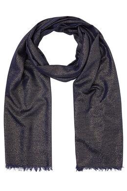 Sjaal met glansdraad, Marineblauw