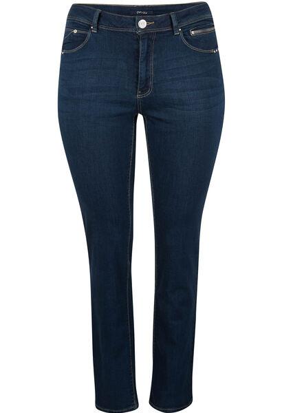 Jeans 5 poches de coupe droite - Denim