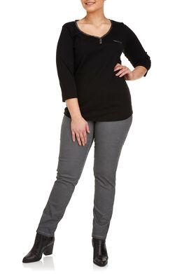 Katoenen T-shirt Zwart