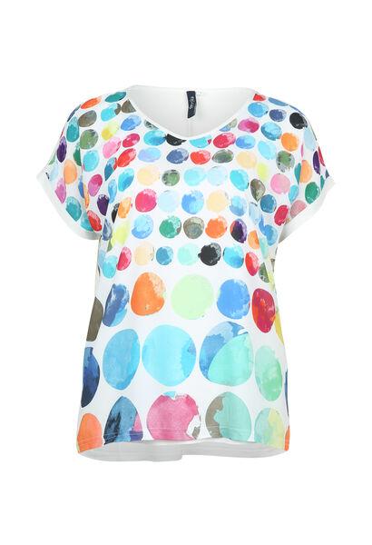 T-shirt imprimé de ronds couleurs - multicolor