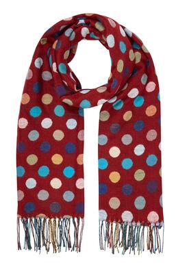 Sjaal met grote, veelkleurige stippen Tomaat
