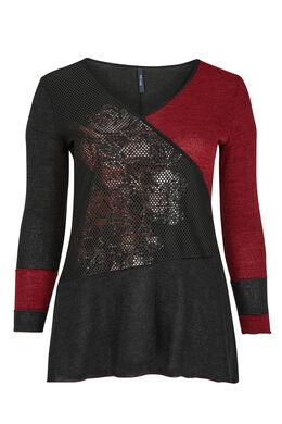Tuniek van een mix van warm tricot, Zwart