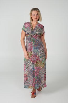 Longue robe imprimé, multicolor