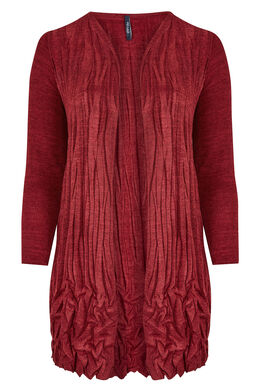 Gilet warme tricot gekreukeld, Rood
