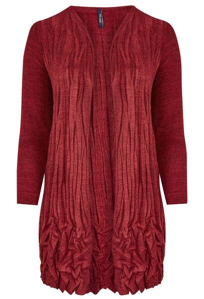 Gilet warme tricot gekreukeld - Rood