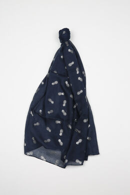 Sjaal met ananasprint, Indigo