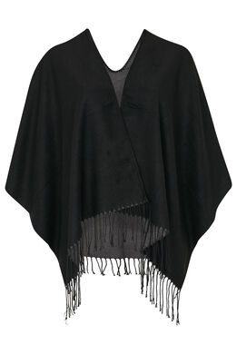 Tweekleurige, omkeerbare poncho, Zwart
