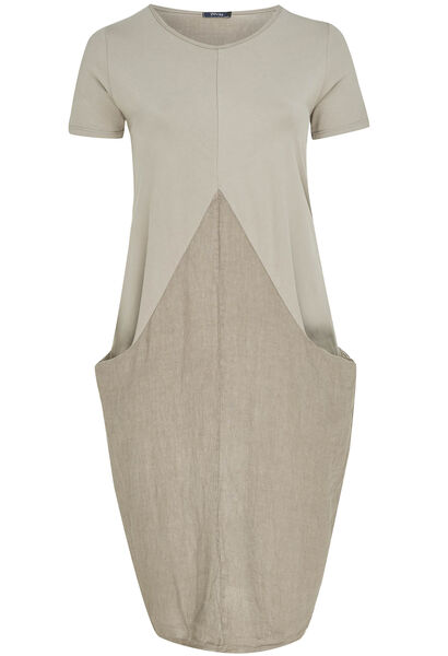 Robe ample bas resseré - Taupe