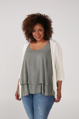 Vest van licht tricot, Wit