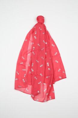 Sjaal met ananasprint, Koraal