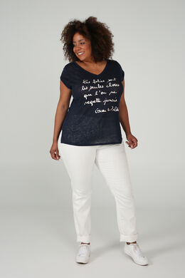 T-shirt avec un message, Marine