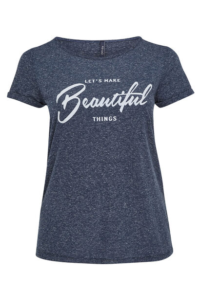 T-shirt imprimé beautiful - Marine