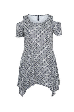 T-shirttuniek van tricot, Marineblauw