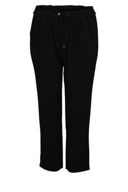 Soepel vallende, geklede broek, Zwart