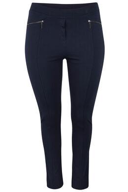 Pantalon esprit jegging avec zips, Marine