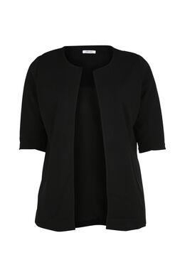 Mantelpakjasje met 3/4-mouwen, Zwart