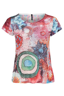 T-shirt imprimé multi-couleurs, multicolor