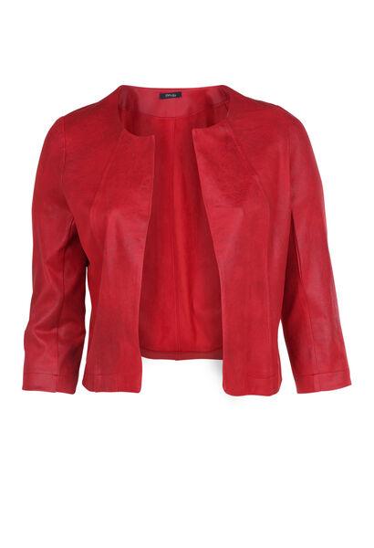 Veste en faux cuir - Rouge