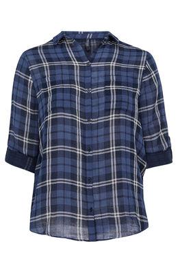 Geruit overhemd, Marineblauw