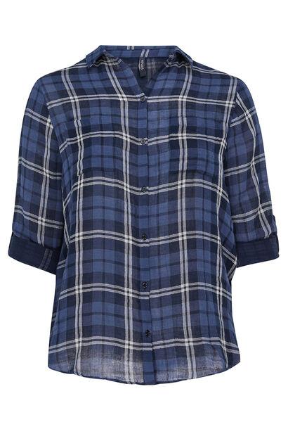Chemise à carreaux - Marine