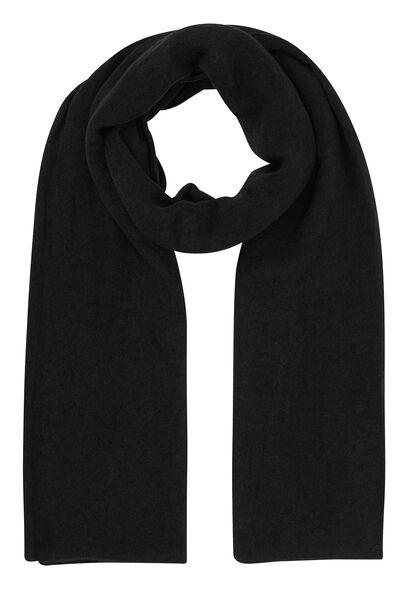 Effen sjaal - Zwart