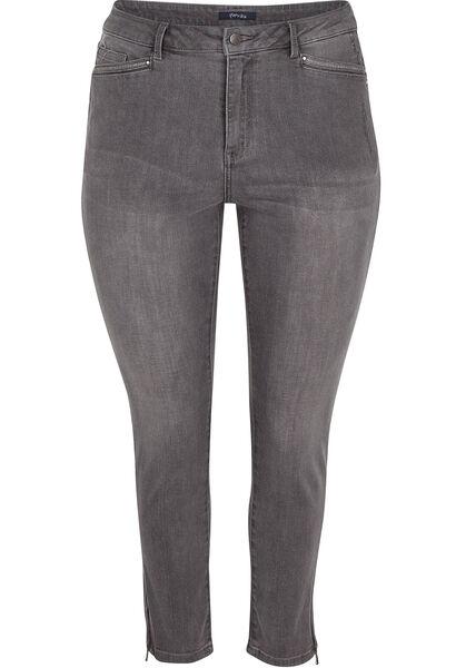 7/8-jeans met 5 zakken - Grijs